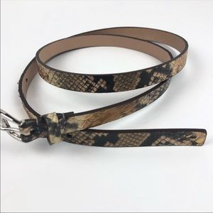 MICHAEL Michale Kors Thin Snakeskin Belt, Large